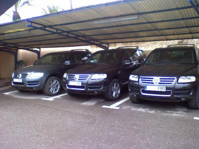 Foto curiosa,tres Volkswagen Touareg